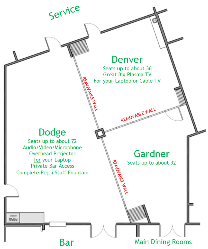 Floorplan South Dining Rooms B